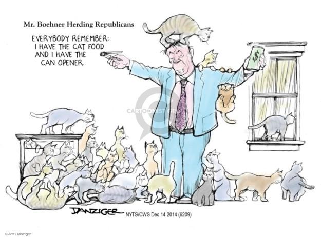 Cartoonist Jeff Danziger  Jeff Danziger's Editorial Cartoons 2014-12-14 partisanship