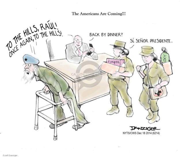 Cartoonist Jeff Danziger  Jeff Danziger's Editorial Cartoons 2014-12-18 United States