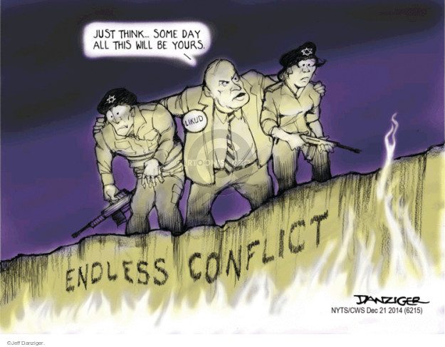 Cartoonist Jeff Danziger  Jeff Danziger's Editorial Cartoons 2014-12-21 Israel