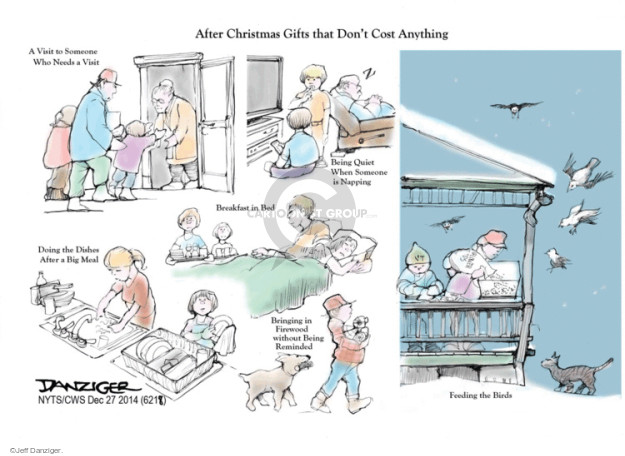 Cartoonist Jeff Danziger  Jeff Danziger's Editorial Cartoons 2014-12-27 consideration