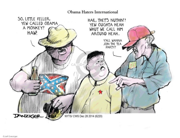 Cartoonist Jeff Danziger  Jeff Danziger's Editorial Cartoons 2014-12-29 party