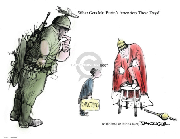 Cartoonist Jeff Danziger  Jeff Danziger's Editorial Cartoons 2014-12-31 international relations