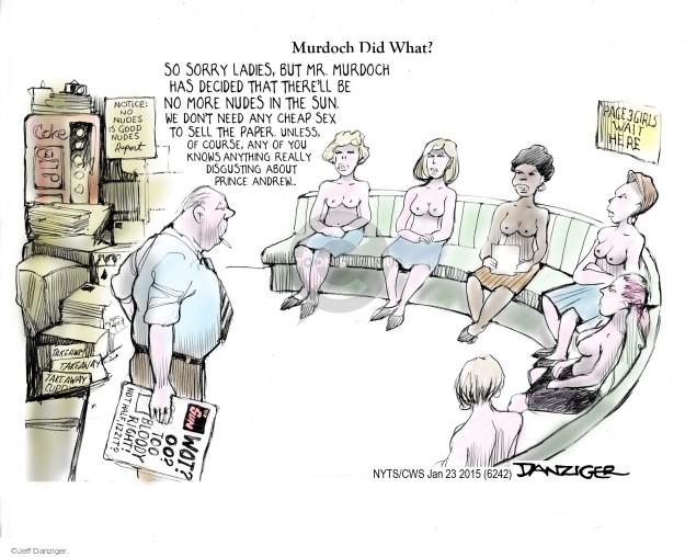 Cartoonist Jeff Danziger  Jeff Danziger's Editorial Cartoons 2015-01-23 Rupert Murdoch