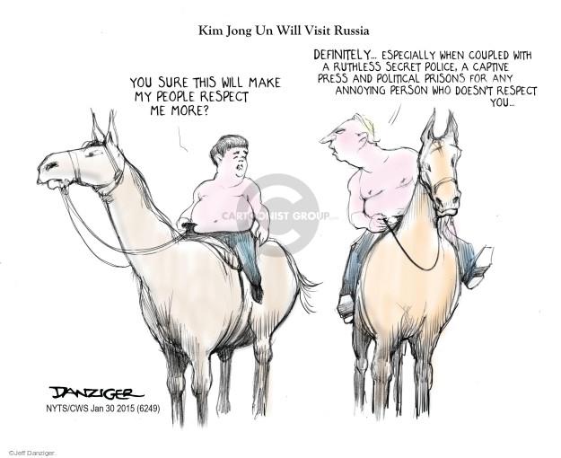 Cartoonist Jeff Danziger  Jeff Danziger's Editorial Cartoons 2015-01-30 freedom of the press