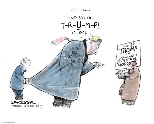 Cartoonist Jeff Danziger  Jeff Danziger's Editorial Cartoons 2015-01-30 candidates republicans