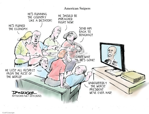 Cartoonist Jeff Danziger  Jeff Danziger's Editorial Cartoons 2015-02-01 international relations