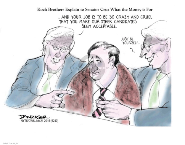 Jeff Danziger  Jeff Danziger's Editorial Cartoons 2015-01-22 Koch brothers