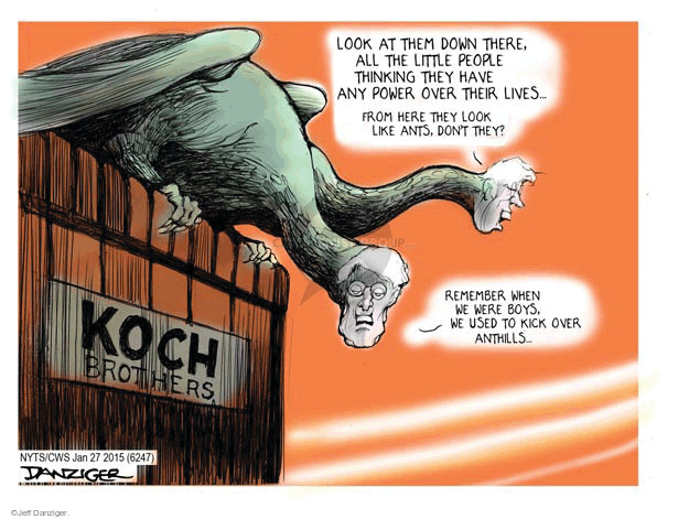 Jeff Danziger  Jeff Danziger's Editorial Cartoons 2015-01-29 Koch brothers
