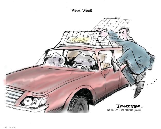 Cartoonist Jeff Danziger  Jeff Danziger's Editorial Cartoons 2015-01-19 roof