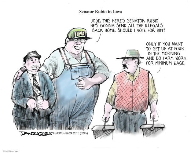 Cartoonist Jeff Danziger  Jeff Danziger's Editorial Cartoons 2015-01-24 candidates republicans