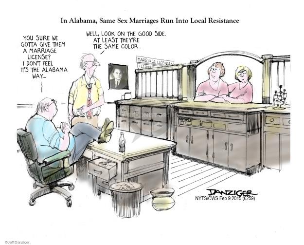 Cartoonist Jeff Danziger  Jeff Danziger's Editorial Cartoons 2015-02-10 judicial branch