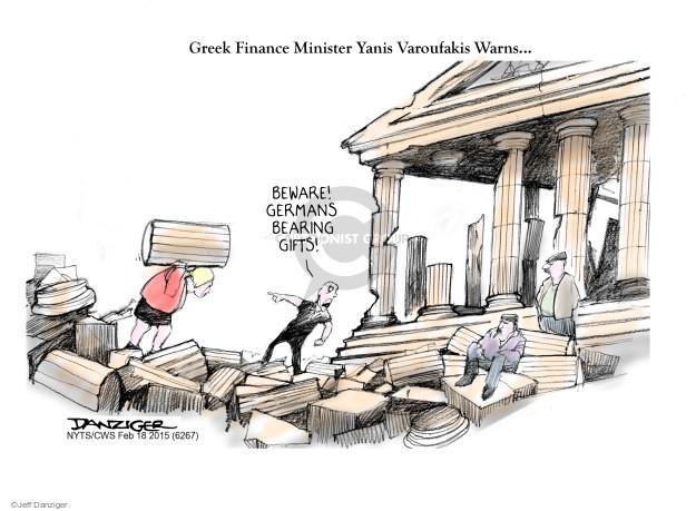 Cartoonist Jeff Danziger  Jeff Danziger's Editorial Cartoons 2015-02-18 beware
