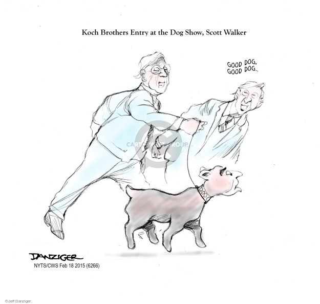 Jeff Danziger  Jeff Danziger's Editorial Cartoons 2015-02-18 Koch brothers