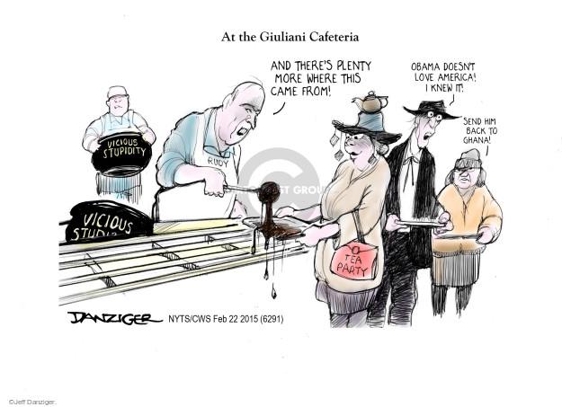 Cartoonist Jeff Danziger  Jeff Danziger's Editorial Cartoons 2015-02-22 party