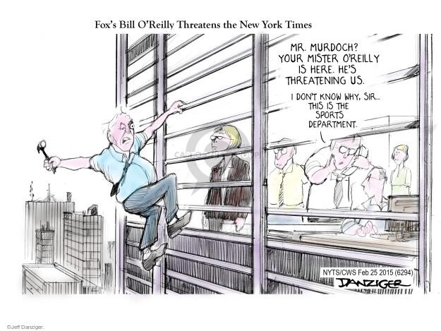 Cartoonist Jeff Danziger  Jeff Danziger's Editorial Cartoons 2015-02-25 Rupert Murdoch