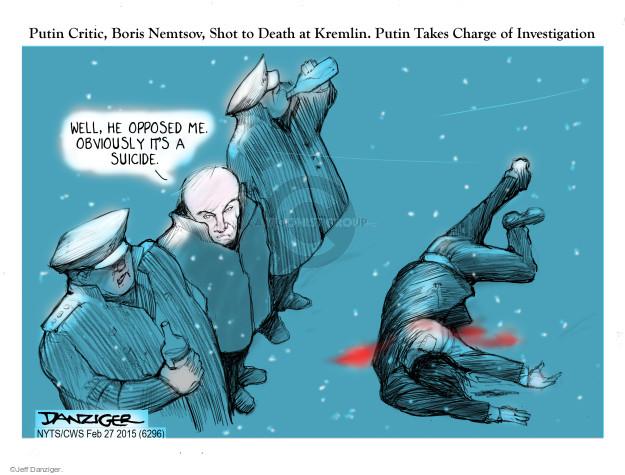 Jeff Danziger  Jeff Danziger's Editorial Cartoons 2015-02-27 murder