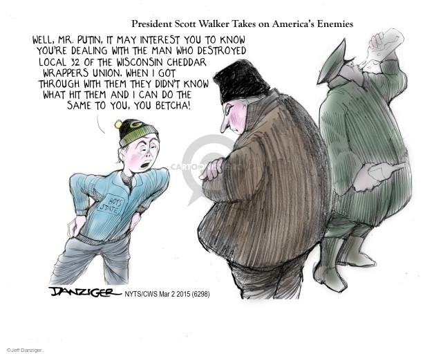 Cartoonist Jeff Danziger  Jeff Danziger's Editorial Cartoons 2015-03-02 gubernatorial