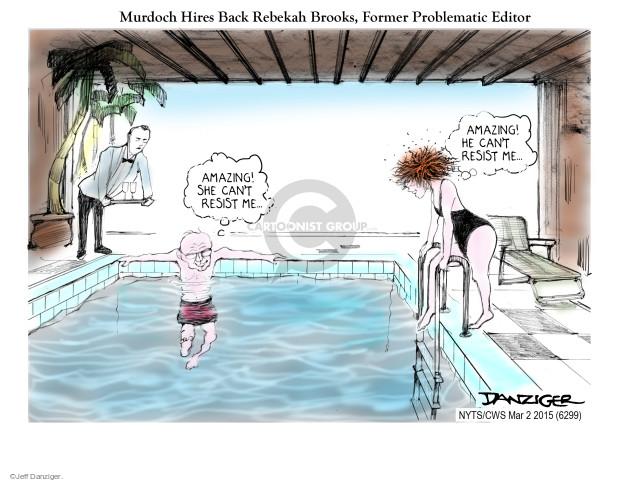 Cartoonist Jeff Danziger  Jeff Danziger's Editorial Cartoons 2015-03-02 Rupert Murdoch