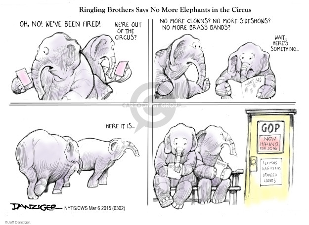 Cartoonist Jeff Danziger  Jeff Danziger's Editorial Cartoons 2015-03-06 candidates republicans