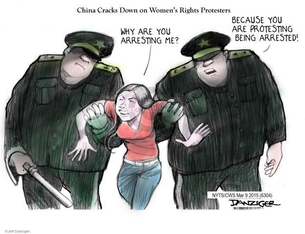 Jeff Danziger  Jeff Danziger's Editorial Cartoons 2015-03-09 China human rights