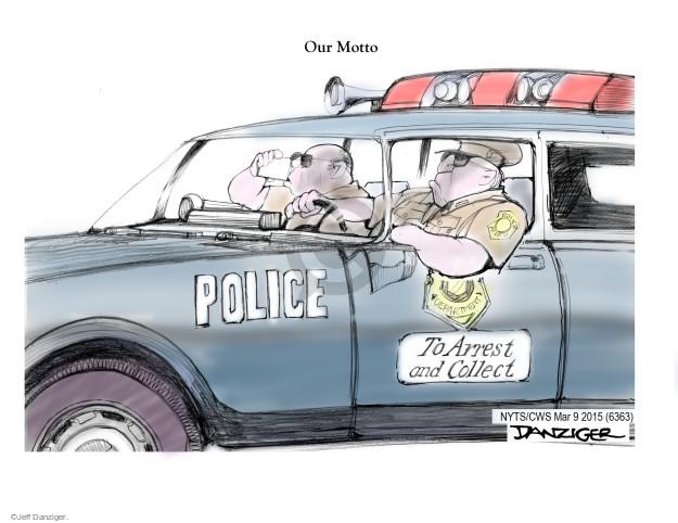 Cartoonist Jeff Danziger  Jeff Danziger's Editorial Cartoons 2015-03-09 race