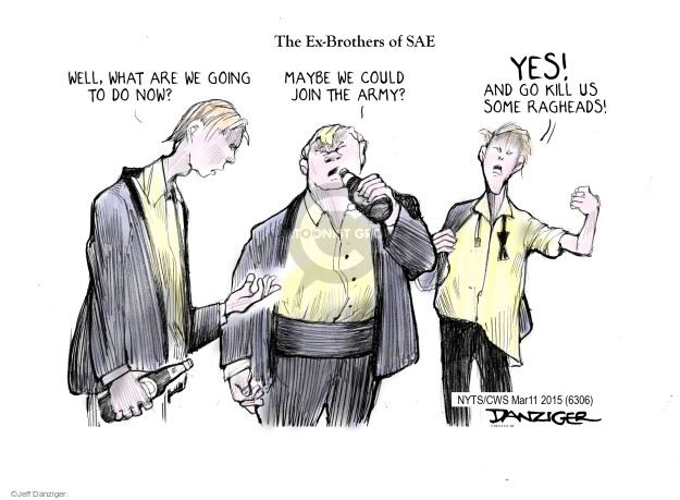 Cartoonist Jeff Danziger  Jeff Danziger's Editorial Cartoons 2015-03-11 Oklahoma
