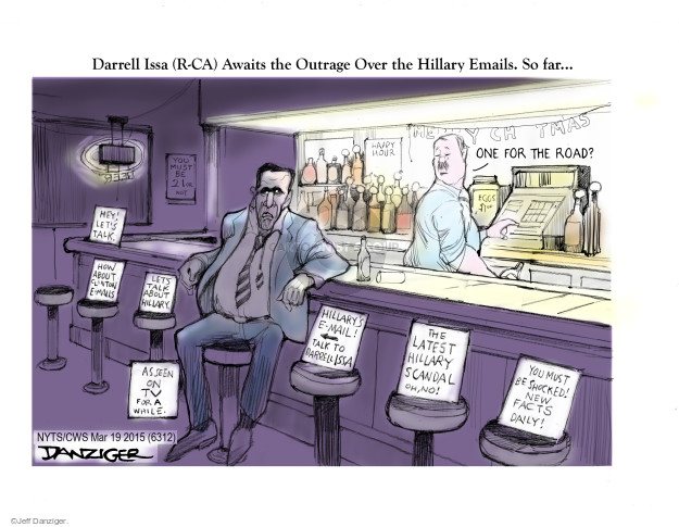 Cartoonist Jeff Danziger  Jeff Danziger's Editorial Cartoons 2015-03-19 political scandal