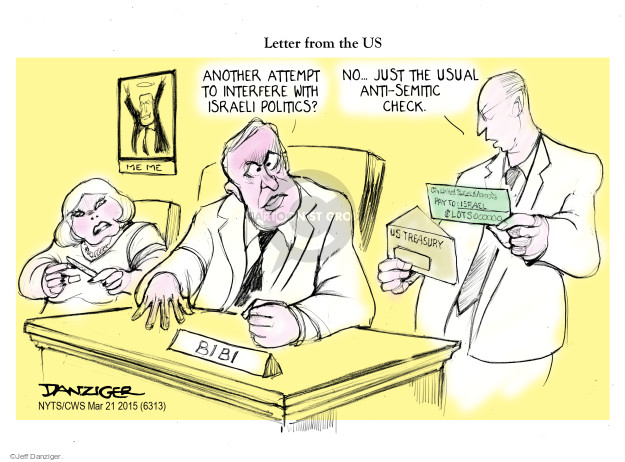 Cartoonist Jeff Danziger  Jeff Danziger's Editorial Cartoons 2015-03-22 international relations