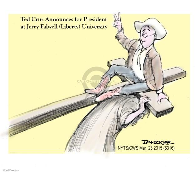 Cartoonist Jeff Danziger  Jeff Danziger's Editorial Cartoons 2015-03-24 2016 Election Ted Cruz