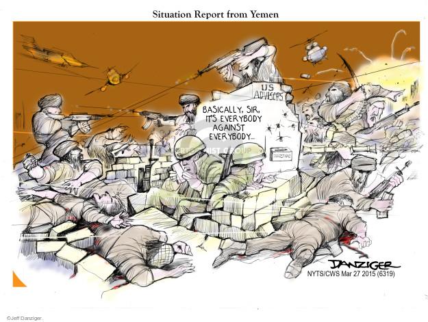 Cartoonist Jeff Danziger  Jeff Danziger's Editorial Cartoons 2015-03-27 uprising