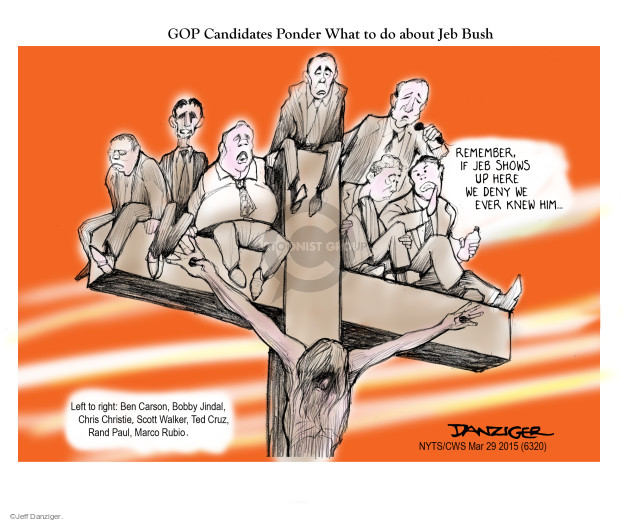 Cartoonist Jeff Danziger  Jeff Danziger's Editorial Cartoons 2015-03-29 candidates republicans