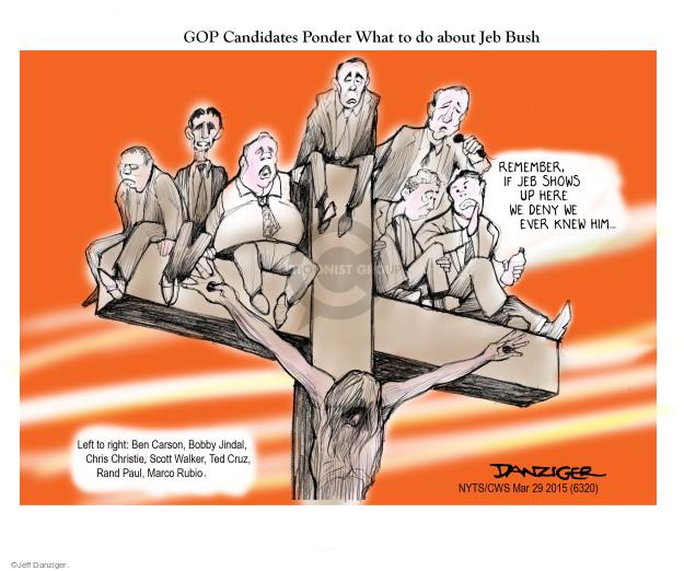 Cartoonist Jeff Danziger  Jeff Danziger's Editorial Cartoons 2015-03-29 cross