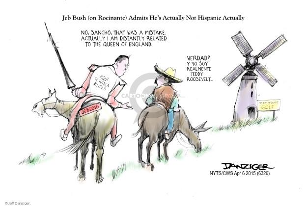Cartoonist Jeff Danziger  Jeff Danziger's Editorial Cartoons 2015-04-06 Roosevelt