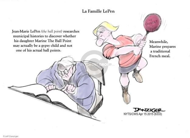Jeff Danziger  Jeff Danziger's Editorial Cartoons 2015-04-15 front