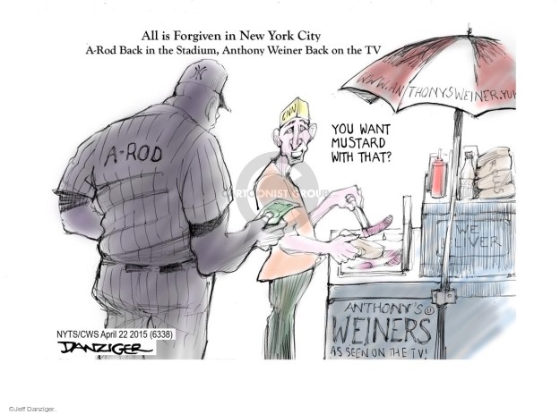 Cartoonist Jeff Danziger  Jeff Danziger's Editorial Cartoons 2015-04-22 political scandal