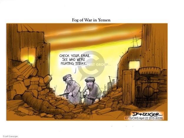 Jeff Danziger  Jeff Danziger's Editorial Cartoons 2015-04-22 Shiite