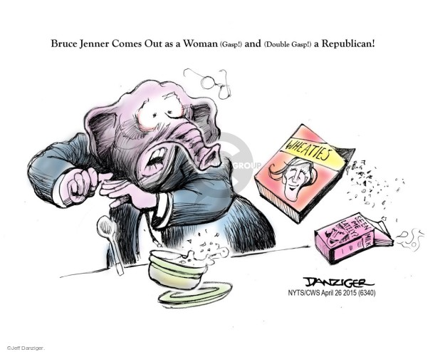 Cartoonist Jeff Danziger  Jeff Danziger's Editorial Cartoons 2015-04-26 party