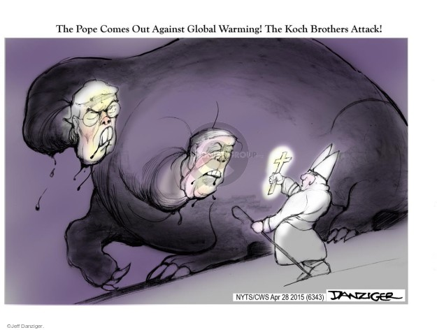 Jeff Danziger  Jeff Danziger's Editorial Cartoons 2015-04-28 Koch brothers