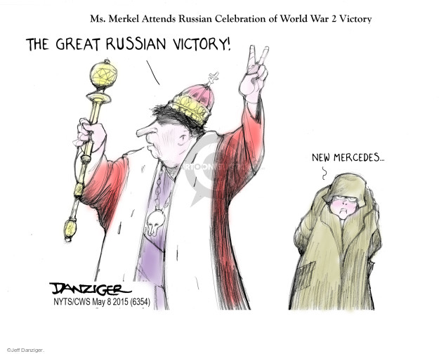 Cartoonist Jeff Danziger  Jeff Danziger's Editorial Cartoons 2015-05-08 World War II
