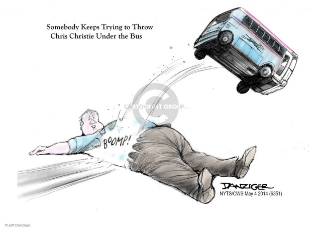 Cartoonist Jeff Danziger  Jeff Danziger's Editorial Cartoons 2015-05-04 Chris Christie