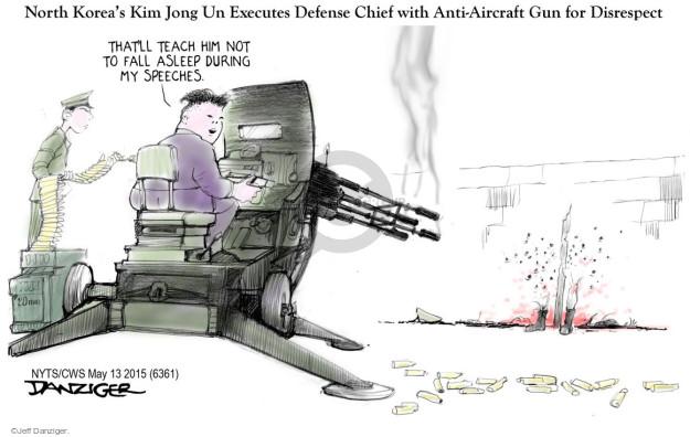 Jeff Danziger  Jeff Danziger's Editorial Cartoons 2015-05-13 supreme leader