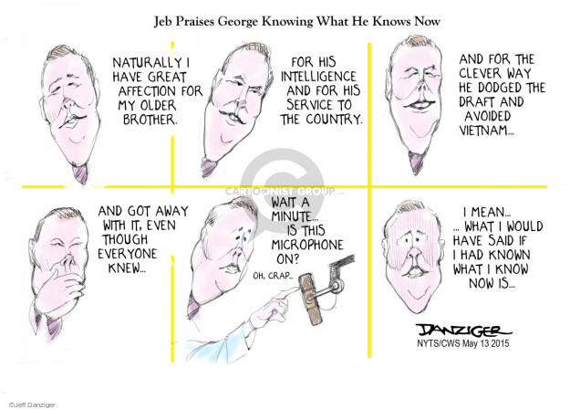 Cartoonist Jeff Danziger  Jeff Danziger's Editorial Cartoons 2015-05-13 George W. Bush