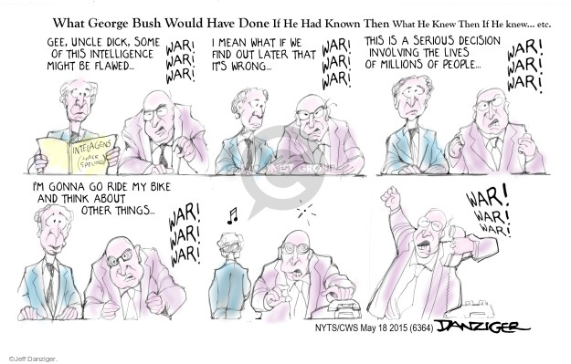 Cartoonist Jeff Danziger  Jeff Danziger's Editorial Cartoons 2015-05-18 George W. Bush
