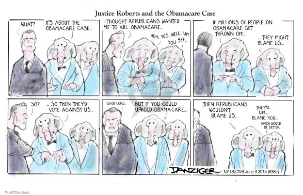 Jeff Danziger  Jeff Danziger's Editorial Cartoons 2015-06-10 supreme court judge