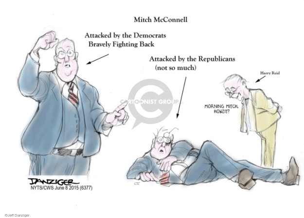 Cartoonist Jeff Danziger  Jeff Danziger's Editorial Cartoons 2015-06-08 partisanship