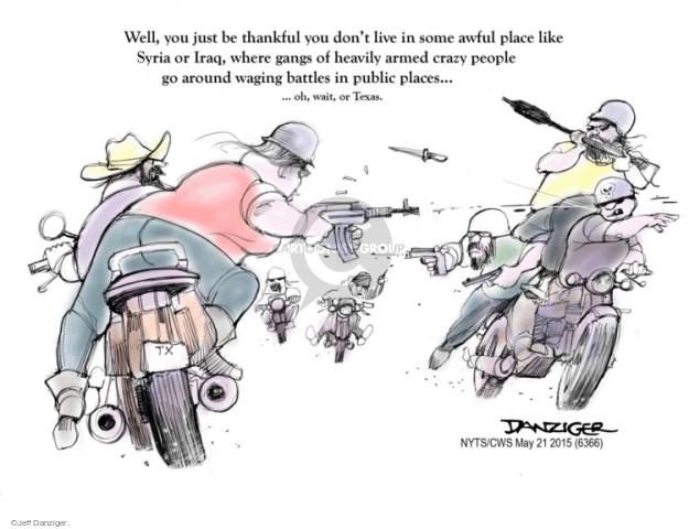 Jeff Danziger  Jeff Danziger's Editorial Cartoons 2015-05-21 gang violence