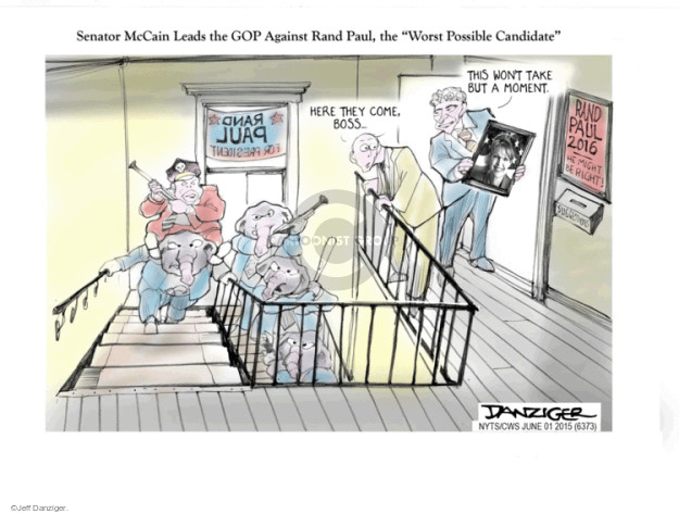 Cartoonist Jeff Danziger  Jeff Danziger's Editorial Cartoons 2015-06-01 candidates republicans
