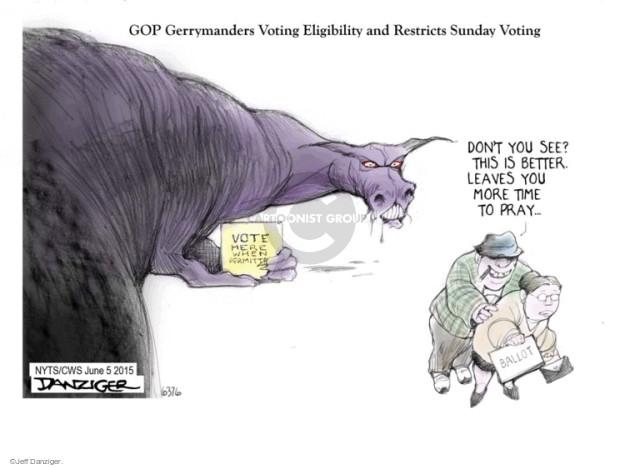 Jeff Danziger  Jeff Danziger's Editorial Cartoons 2015-06-05 Republican voter