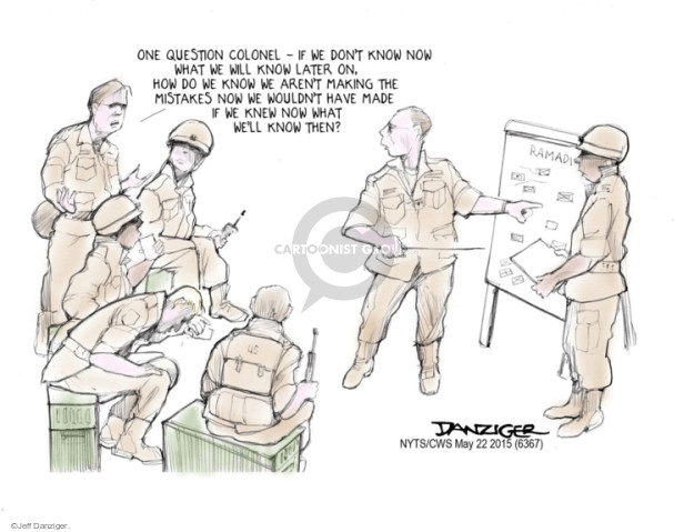 Jeff Danziger  Jeff Danziger's Editorial Cartoons 2015-05-22 armed forces