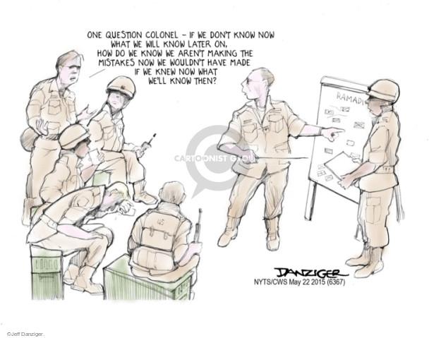 Jeff Danziger  Jeff Danziger's Editorial Cartoons 2015-05-22 military strategy